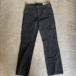 Hi-rise crop flare GAP pants